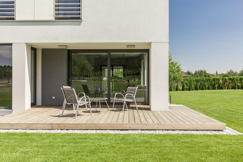warme Terrassenschiebetüren mit Aluminium-Blende