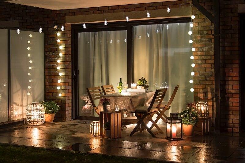 Terrassenschiebetür mit Aluminium-Blende
