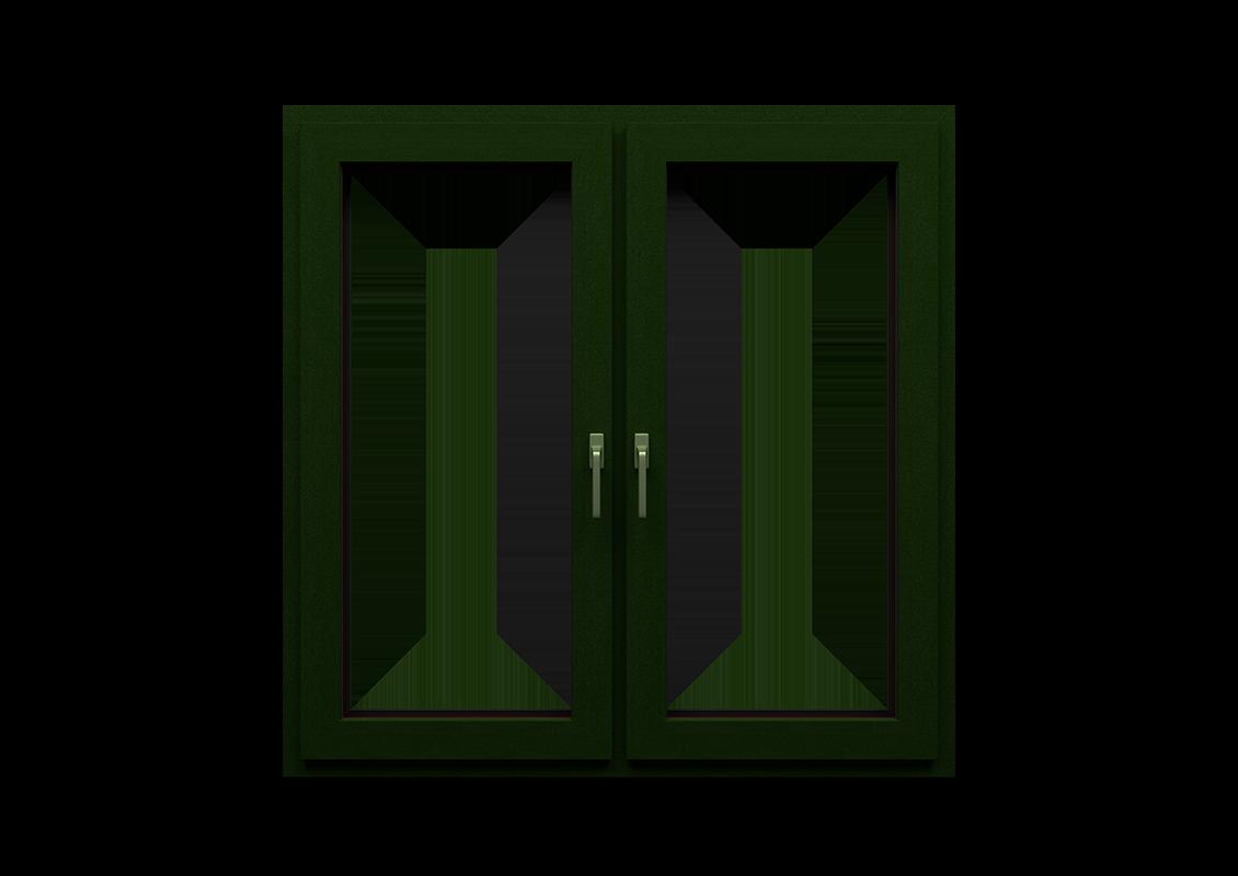 T-Energy okna kolor ciemny zielony